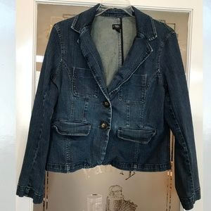 Mossimo Stretch Jean Jacket Size XL